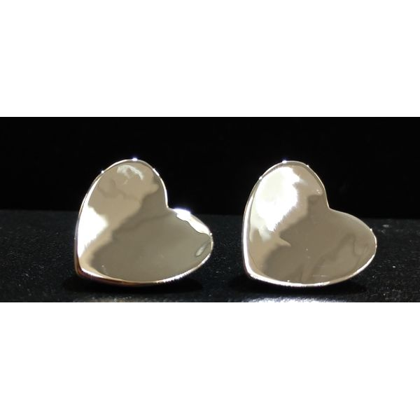 Sterling Silver Heart Earrings Swede's Jewelers East Windsor, CT