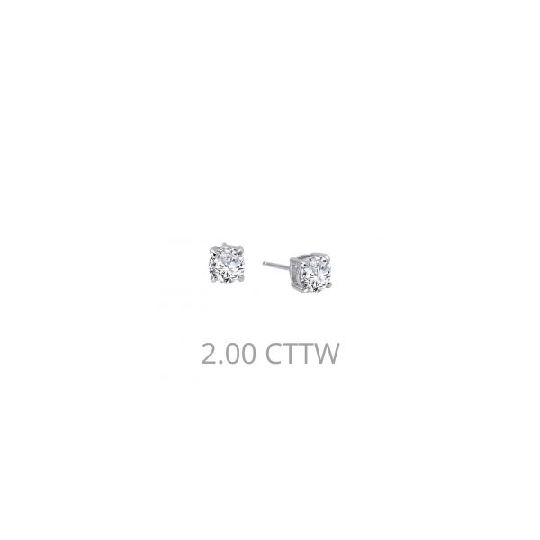 Sterling Silver 2.00tw Round Simulated Diamonds Stud Earrings Swede's Jewelers East Windsor, CT