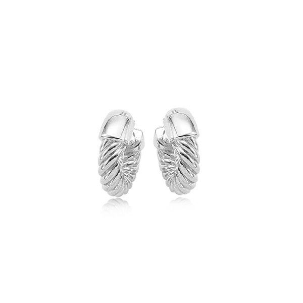 Carla Sterling Silver Thick Twisted Hoop Earrings Swede's Jewelers East Windsor, CT