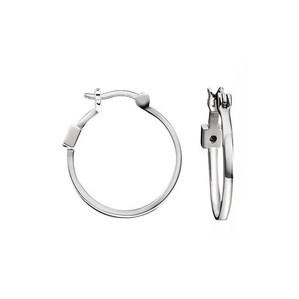 Elle Sterling Silver Medium Hoops Swede's Jewelers East Windsor, CT
