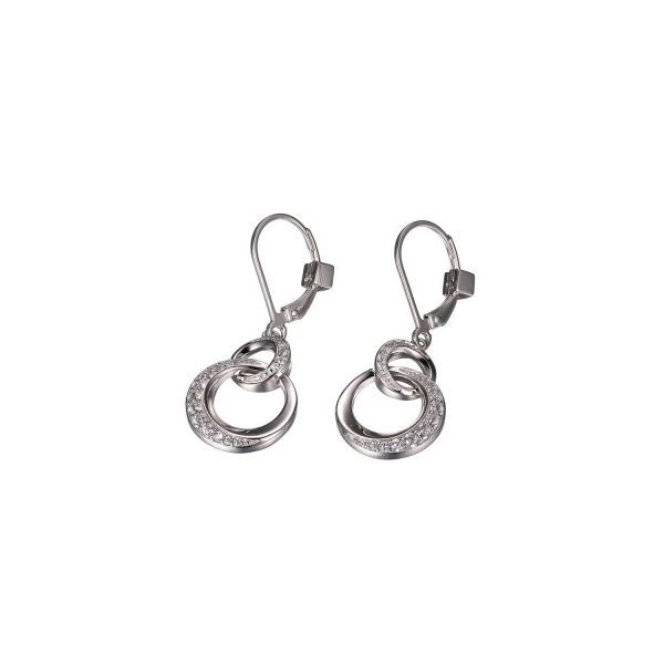 Elle Sterling Silver CZ Dangle Earrings Swede's Jewelers East Windsor, CT