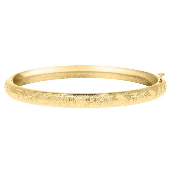 Gold Filled Baby Bangle With Heart Design Swede's Jewelers East Windsor, CT