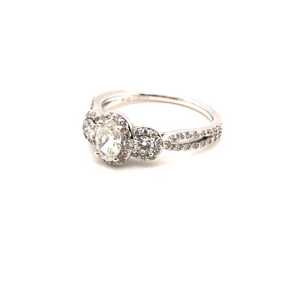 1.00CT T.W OVAL CUT DIAMOND 14KT WHITE GOLD ENGAGEMENT RING SIZE 6.75 Image 2 Taylors Jewellers Alliston, ON