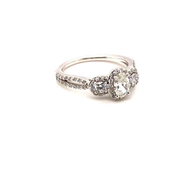 1.00CT T.W OVAL CUT DIAMOND 14KT WHITE GOLD ENGAGEMENT RING SIZE 6.75 Image 3 Taylors Jewellers Alliston, ON