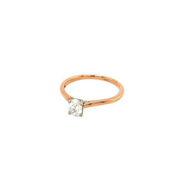 0.38CT Oval I AM CANADIAN Diamond Engagement Ring in 14KT Two-tone Rose & White Gold Image 2 Taylors Jewellers Alliston, ON