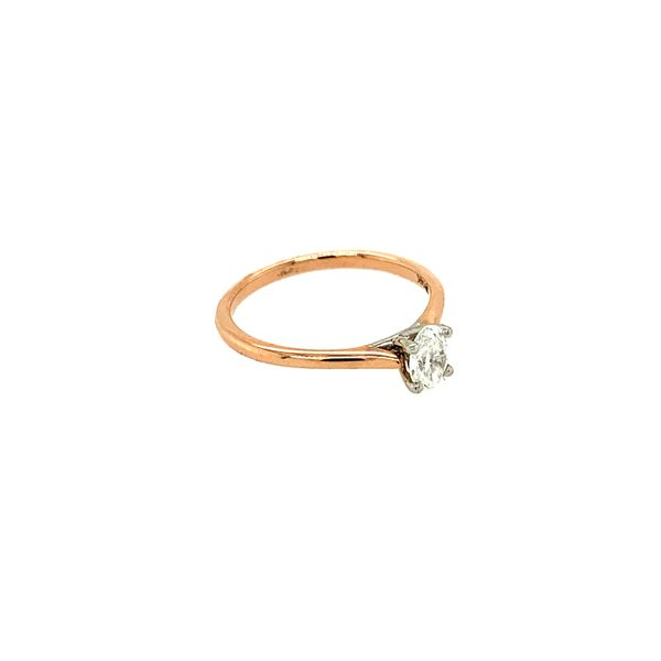 0.38CT Oval I AM CANADIAN Diamond Engagement Ring in 14KT Two-tone Rose & White Gold Image 3 Taylors Jewellers Alliston, ON
