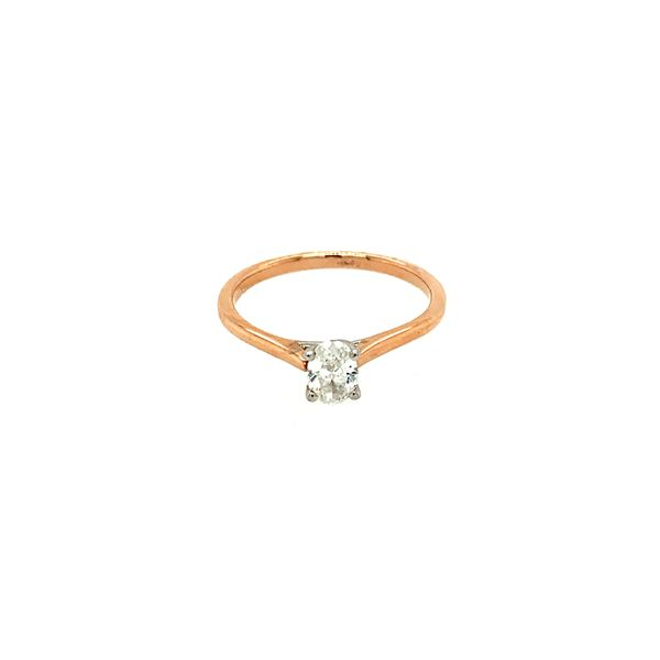 0.38CT Oval I AM CANADIAN Diamond Engagement Ring in 14KT Two-tone Rose & White Gold Taylors Jewellers Alliston, ON