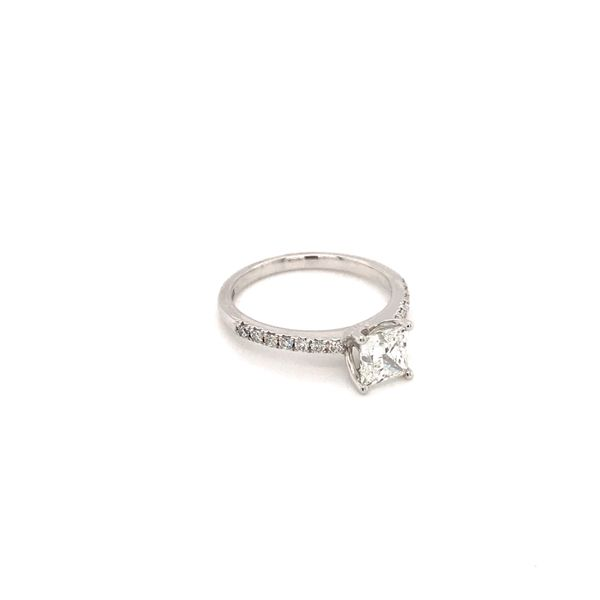 1.02 CT T.W PRINCESS CENTER DIAMOND 18KT WHITE GOLD WITH PALLADIUM ENGAGEMENT RING SIZE 6.5 Image 2 Taylors Jewellers Alliston, ON