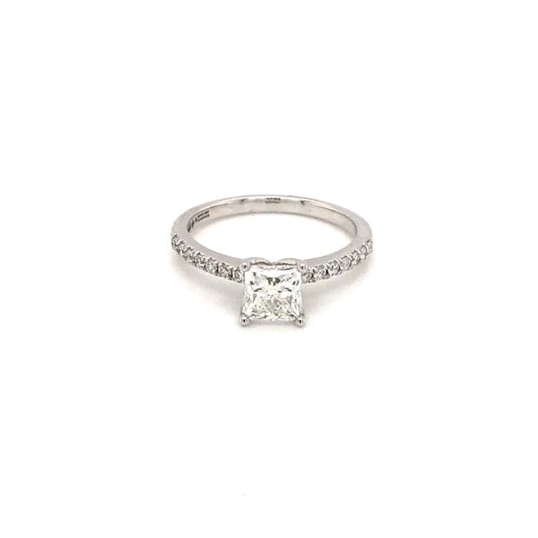 1.02 CT T.W PRINCESS CENTER DIAMOND 18KT WHITE GOLD WITH PALLADIUM ENGAGEMENT RING SIZE 6.5 Taylors Jewellers Alliston, ON