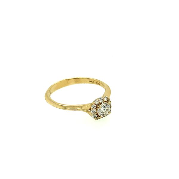 GABRIEL & CO ER911730R0Y44JJ.0001 14K YELLOW GOLD DIAMOND ENGAGEMENT RING CENTER ROUND BRILLIANT WITH CUSHION HALO  CENTER STONE Image 3 Taylors Jewellers Alliston, ON