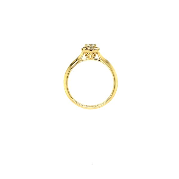 GABRIEL & CO ER911730R0Y44JJ.0001 14K YELLOW GOLD DIAMOND ENGAGEMENT RING CENTER ROUND BRILLIANT WITH CUSHION HALO  CENTER STONE Image 4 Taylors Jewellers Alliston, ON