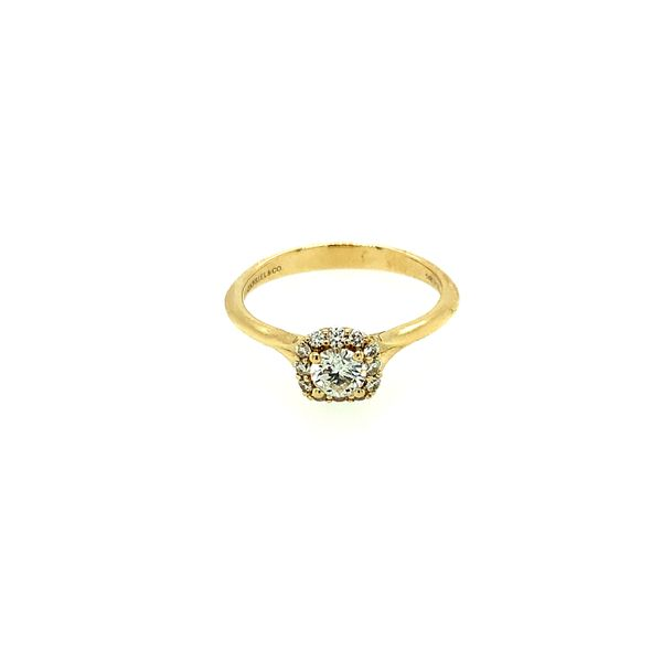 GABRIEL & CO ER911730R0Y44JJ.0001 14K YELLOW GOLD DIAMOND ENGAGEMENT RING CENTER ROUND BRILLIANT WITH CUSHION HALO  CENTER STONE Taylors Jewellers Alliston, ON
