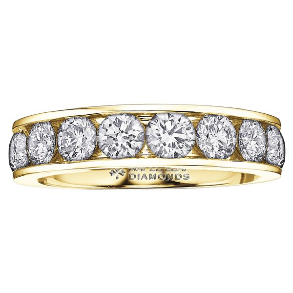 14K YELLOW GOLD DIAMOND ANNIVERSARY BAND  TAYLORS ANNIVERSARY SPECIAL 0.70 TDW   SIZE 6.5 Taylors Jewellers Alliston, ON