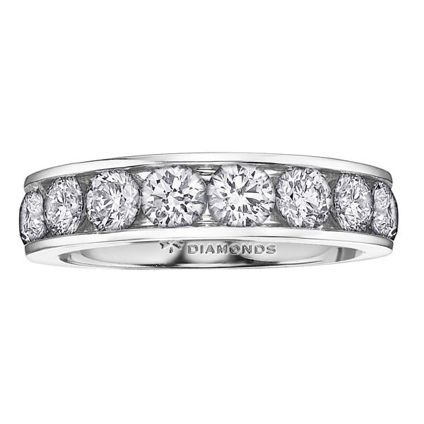0.75CT T.W DIAMOND CHANNEL 14KT WHITE GOLD BAND Taylors Jewellers Alliston, ON
