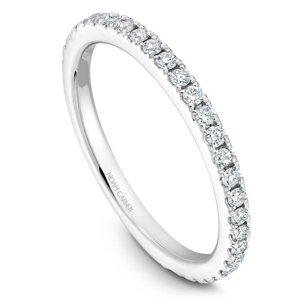 0.36CT T.W DIAMOND NOAM CARVER 14KT WHITE GOLD STACKABLE RING SIZE 6.5 Taylor's Jewellers Alliston, ON