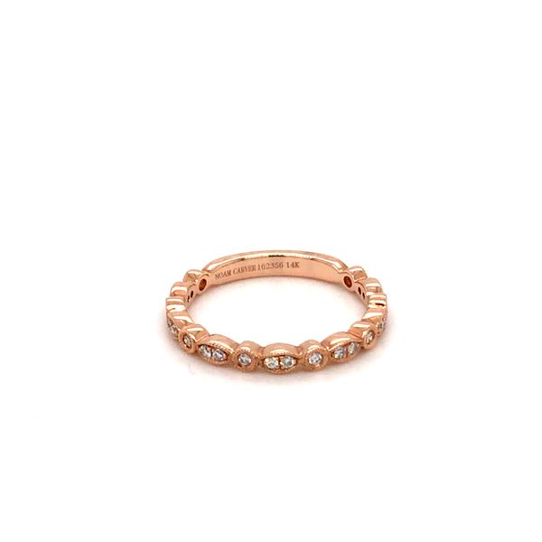 0.21CT T.W DIAMOND NOAM CARVER STACKABLE 14KT ROSE GOLD SIZE 6.5 Image 2 Taylor's Jewellers Alliston, ON