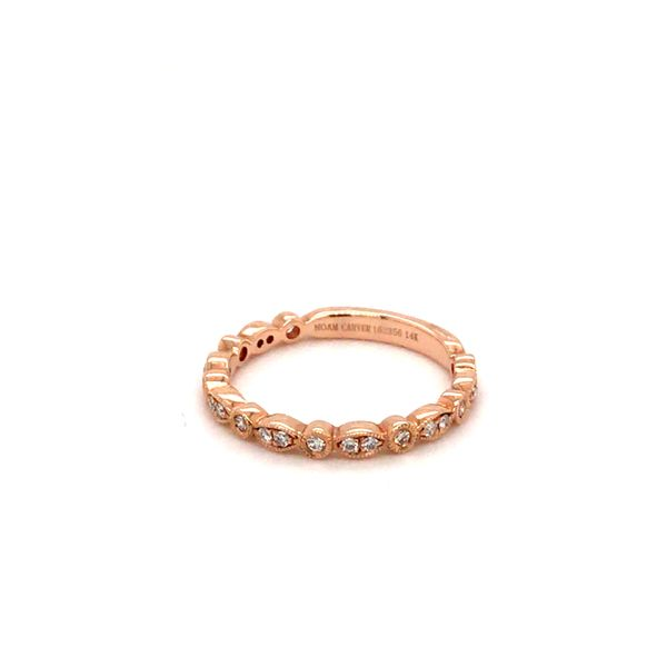 0.21CT T.W DIAMOND NOAM CARVER STACKABLE 14KT ROSE GOLD SIZE 6.5 Image 3 Taylor's Jewellers Alliston, ON