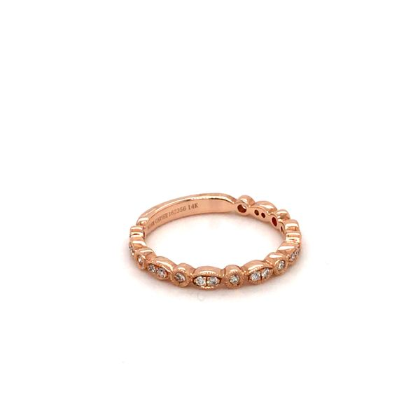0.21CT T.W DIAMOND NOAM CARVER STACKABLE 14KT ROSE GOLD SIZE 6.5 Image 4 Taylor's Jewellers Alliston, ON