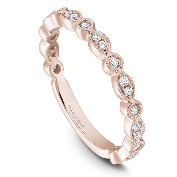 0.21CT T.W DIAMOND NOAM CARVER STACKABLE 14KT ROSE GOLD SIZE 6.5 Taylor's Jewellers Alliston, ON