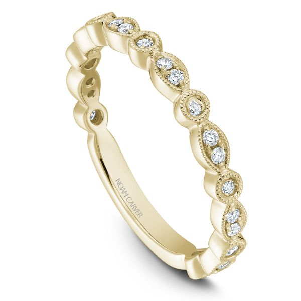 0.21CT T.W DIAMOND NOAM CARVER STACKABLE 14KT YELLOW GOLD RING SIZE 6.5 Taylor's Jewellers Alliston, ON