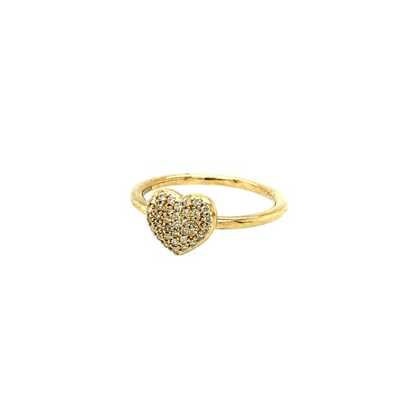 0.18CTW Diamond Pavé Heart Ring in 10KT Yellow Gold Image 2 Taylors Jewellers Alliston, ON