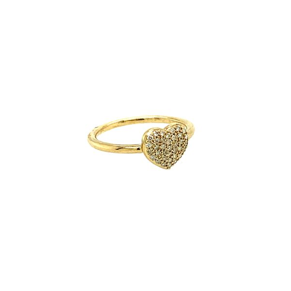 0.18CTW Diamond Pavé Heart Ring in 10KT Yellow Gold Image 3 Taylors Jewellers Alliston, ON