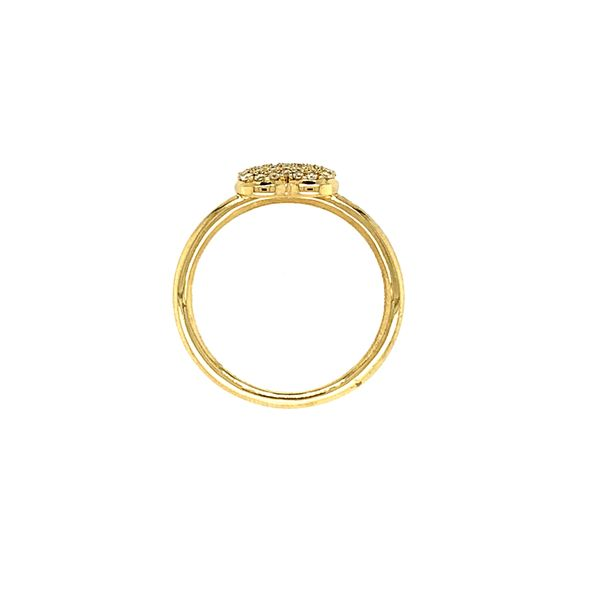 0.18CTW Diamond Pavé Heart Ring in 10KT Yellow Gold Image 4 Taylors Jewellers Alliston, ON