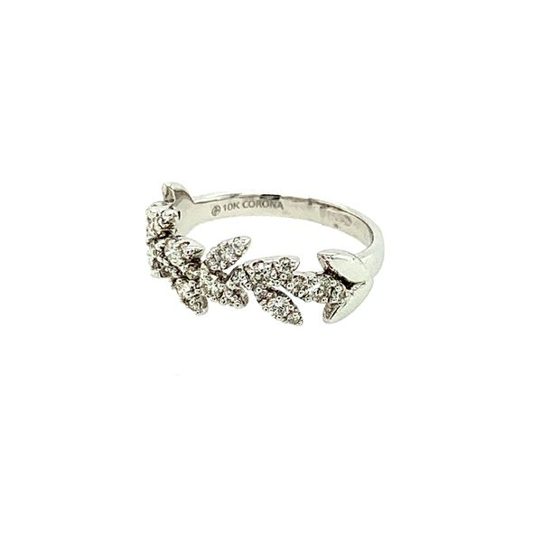 0.50CTW Diamond Pavé Leaves Ring in 10KT White Gold size 6.5 Image 2 Taylor's Jewellers Alliston, ON