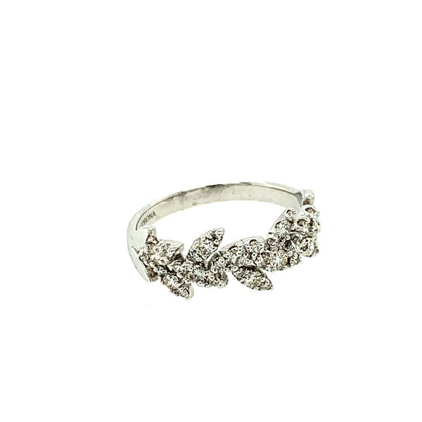0.50CTW Diamond Pavé Leaves Ring in 10KT White Gold size 6.5 Image 3 Taylors Jewellers Alliston, ON