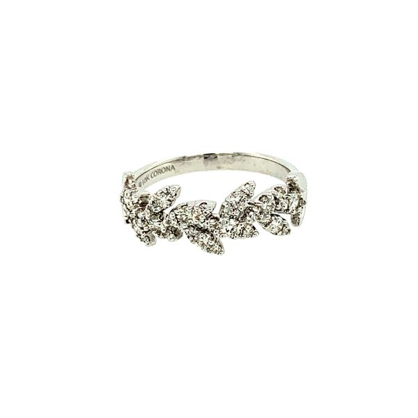 0.50CTW Diamond Pavé Leaves Ring in 10KT White Gold size 6.5 Taylor's Jewellers Alliston, ON
