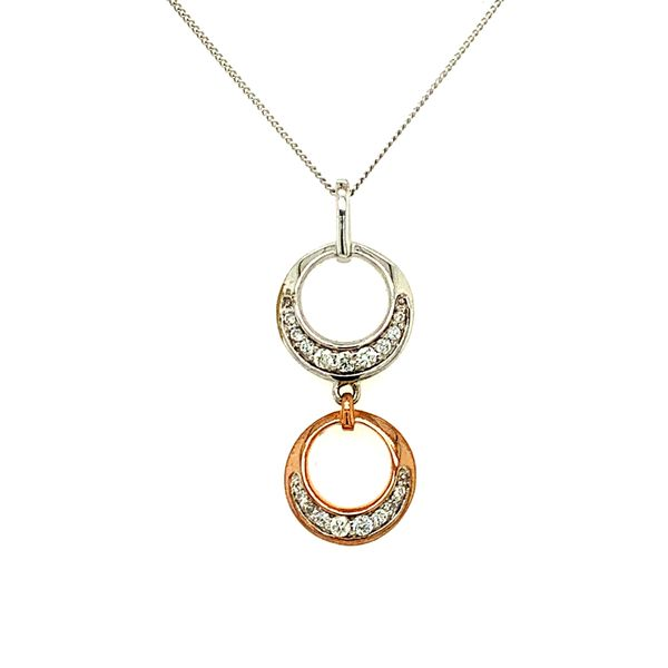 0.14CTW DIAMOND 10KT WHITE & ROSE GOLD PENDANT Taylor's Jewellers Alliston, ON