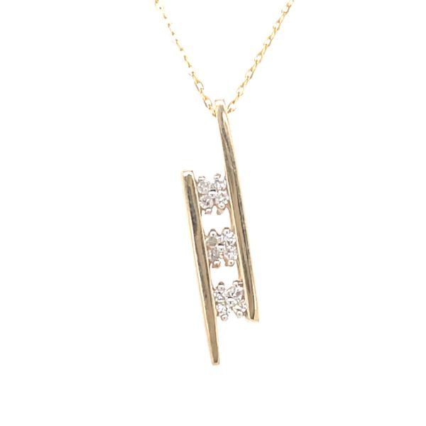 ICICLES IC1015 0.06CT T.W DIAMOND & 10KT YELLOW GOLD NECKLACE Taylors Jewellers Alliston, ON