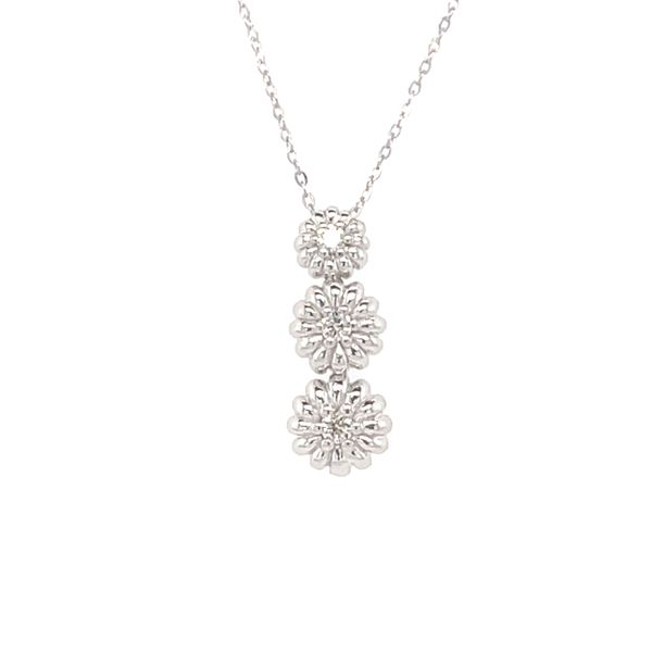 ICICLES IC1001 0.05CT T.W DIAMOND & 10KT WHITE GOLD NECKLACE Taylors Jewellers Alliston, ON