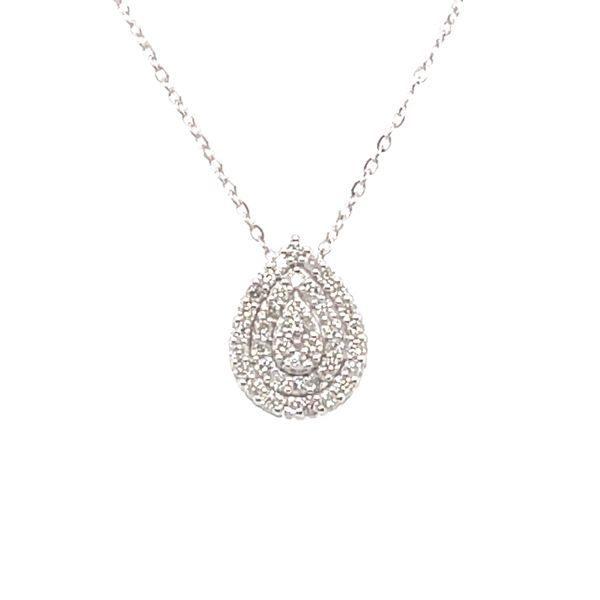 ICICLES IC1013 0.10CT T.W DIAMOND PAVÉ PEAR SHAPED 10KT WHITE GOLD NECKLACE Taylors Jewellers Alliston, ON