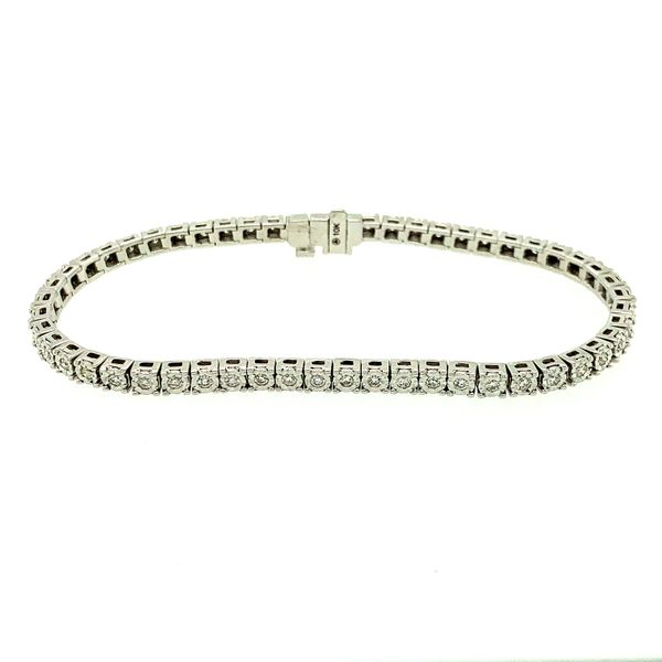 TENNIS BRACELET 1CT TDW   TAYLOR'S 70TH ANNIVERSARY SPECIAL  54 DIAMOND 10KT WHITE GOLD Taylors Jewellers Alliston, ON