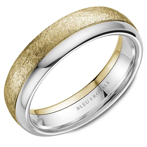 Bleu Royale RYL-081YW6-M10 14KT YELLOW & WHITE GOLD BAND Taylors Jewellers Alliston, ON