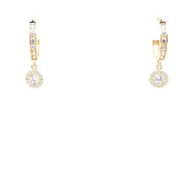 LUX 10KT YELLOW GOLD WITH CUBIC ZIRCONIA DANGLE EARRINGS Taylors Jewellers Alliston, ON