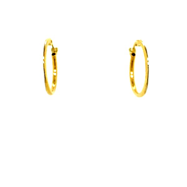 10KT YELLOW GOLD HOOP EARRINGS Taylors Jewellers Alliston, ON