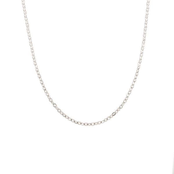 14KT WHITE GOLD CABLE CHAIN LENGTH 18