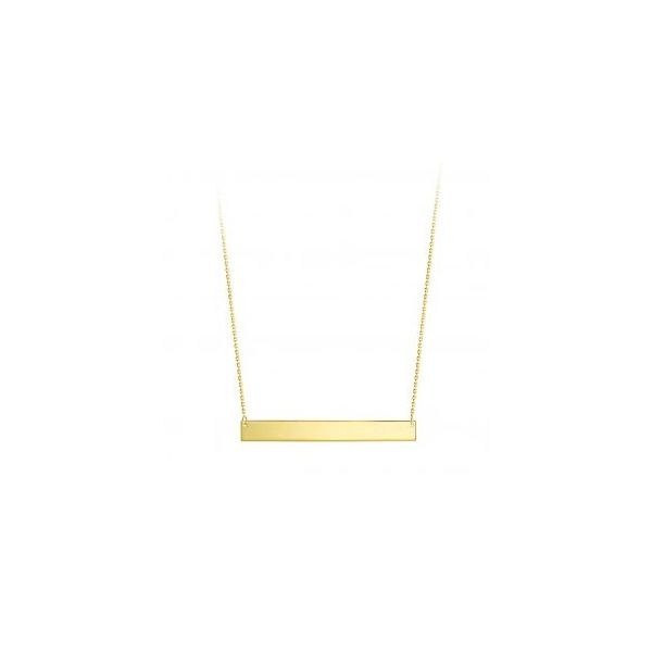 10KT YELLOW GOLD HORIZONTAL BAR NECKLACE Taylors Jewellers Alliston, ON
