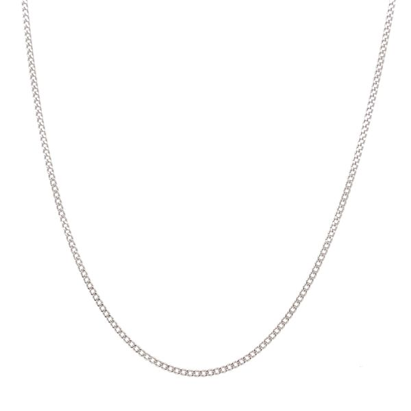 14KT WHITE GOLD CURB CHAIN LENGTH 20