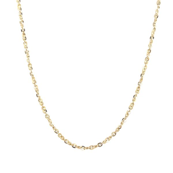 10K YELLOW GOLD TWISTED ROLO CHAIN LENGTH 16