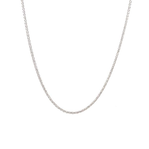 10KT WHITE GOLD WHEAT CHAIN LENGTH 18