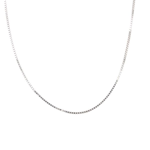 10KT WHITE GOLD BOX CHAIN LENGTH 18