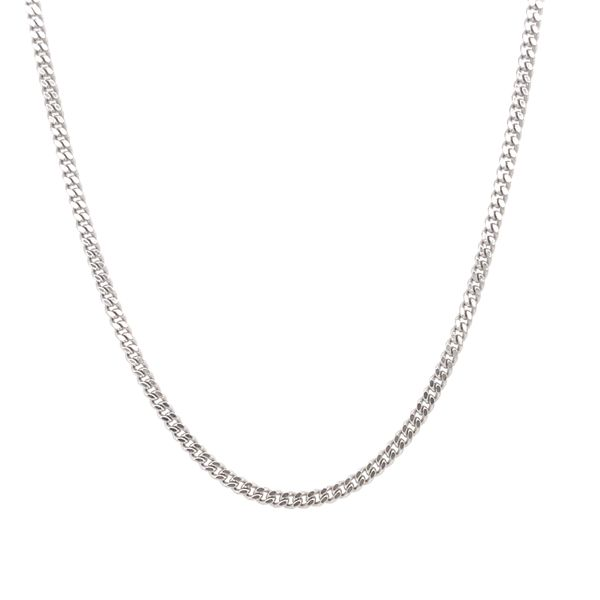 10KT WHITE GOLD CURB CHAIN LENGTH 20