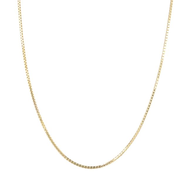 10KT YELLOW GOLD BOX CHAIN LENGTH 16
