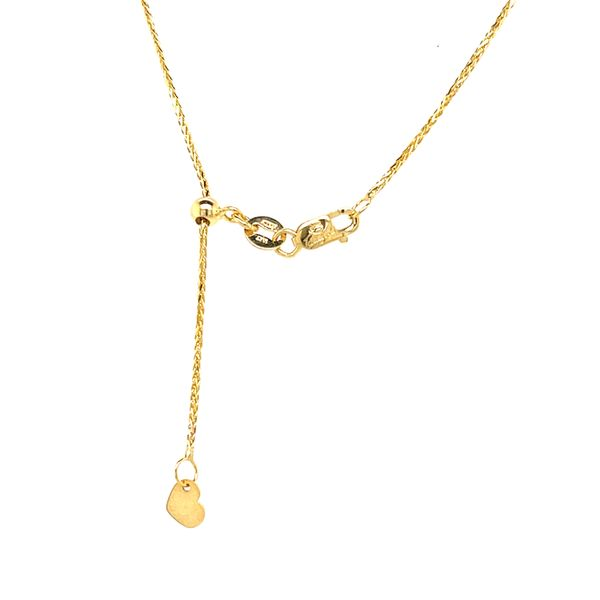 10KT YELLOW GOLD  WHEAT CHAIN ADJUSTABLE 20