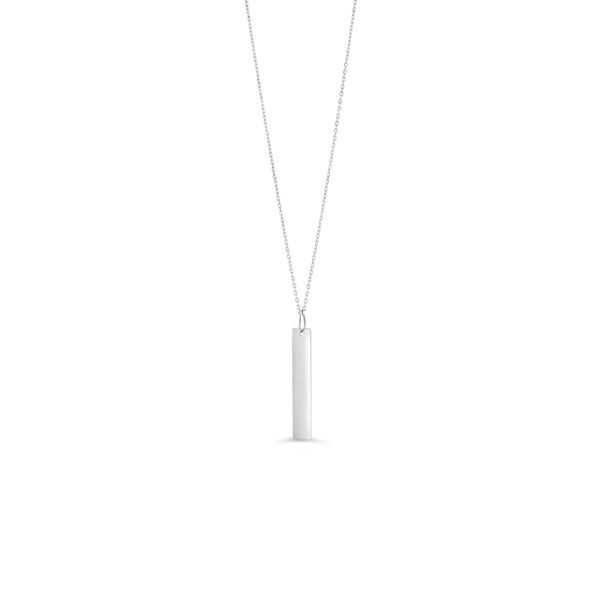 VERTICAL BAR NECKLACE 10KT WHITE Taylors Jewellers Alliston, ON