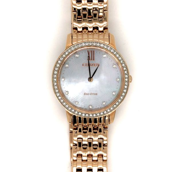 CITIZEN EX1483-50D ECO-DRIVE MOTHER OF PEARL DIAL WATCH Taylors Jewellers Alliston, ON