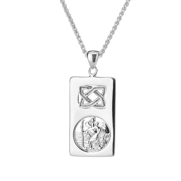 STERLING SILVER ST CHRISTOPHER PENDANT Taylors Jewellers Alliston, ON
